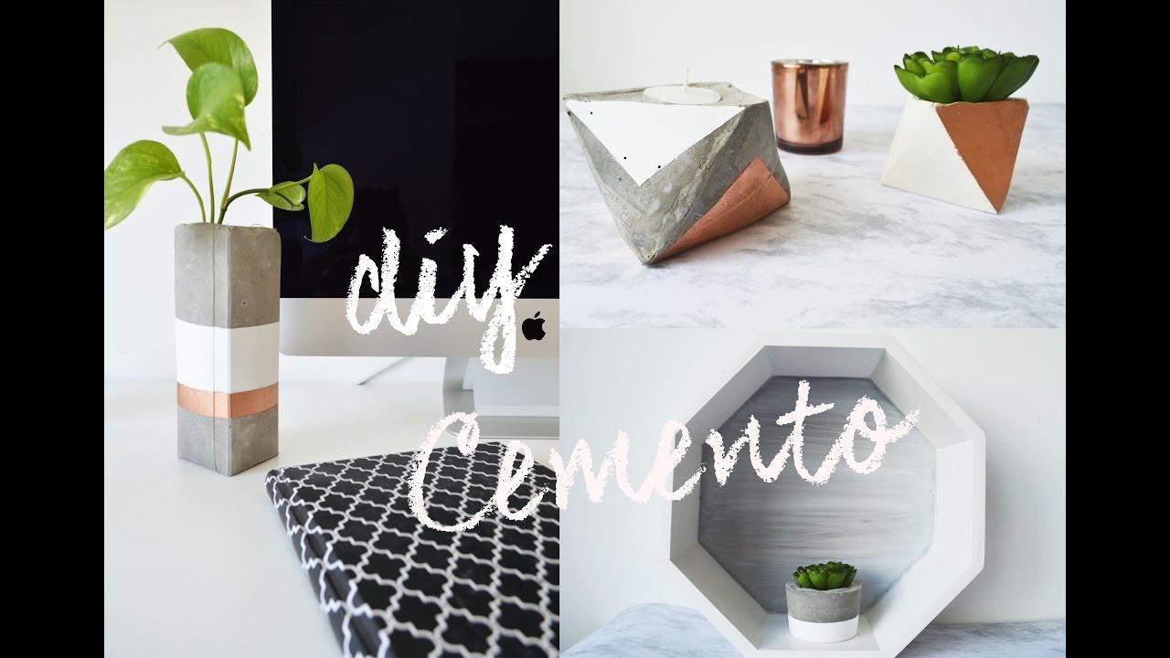 Diy con cemento ideas para macetas y portavelas das for Macetas de cemento