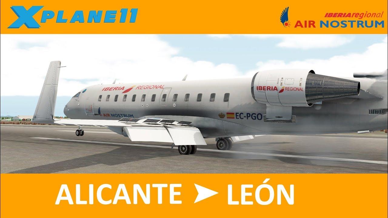 [XPlane 11] JRollon CRJ 200| Alicante - León by The Simax: Simulación Aérea