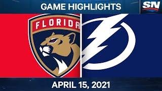 NHL Game Highlights   Panthers vs. Lightning - Apr. 15, 2021