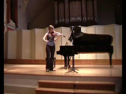 """Carl Nielsen  """"Preludio e presto"""" for solo violin, """"Preludio"""""""