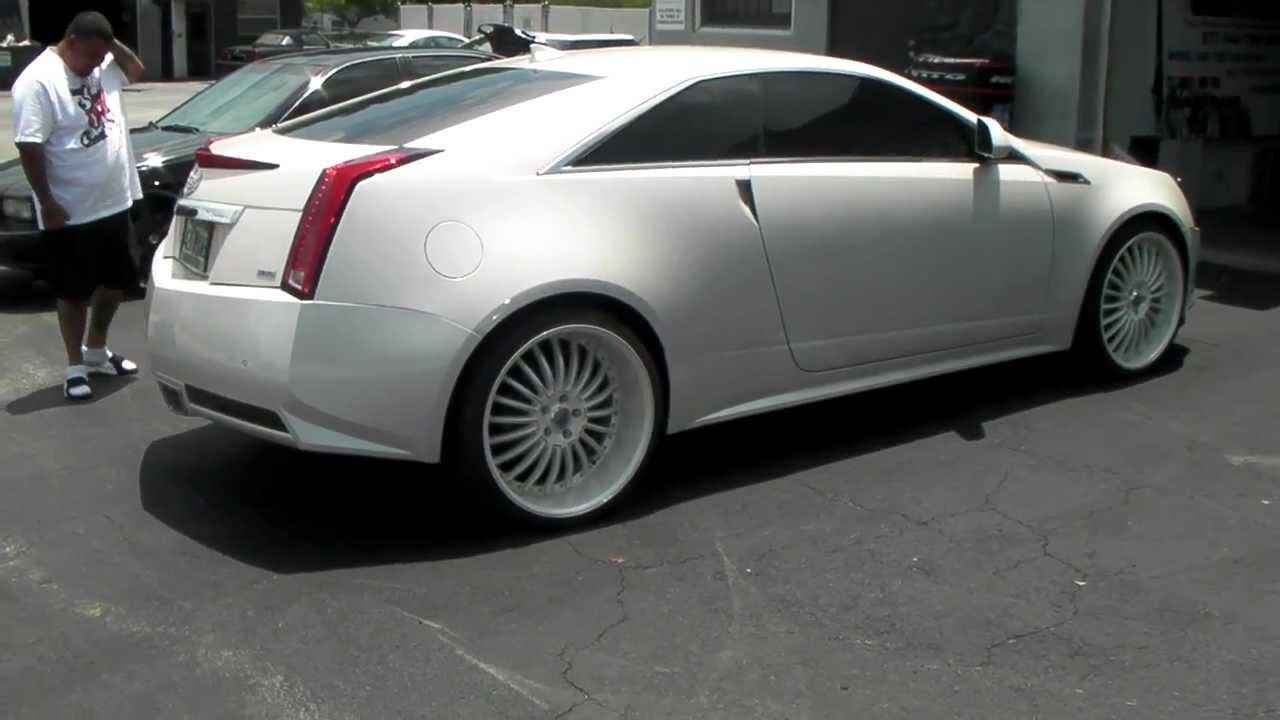 Cadillac Ats Coupe >> www.DUBSandTIRES.com 2013 CTS Coupe Lexani LSS-11 Custom Painted White Luxury Rims and Tires ...
