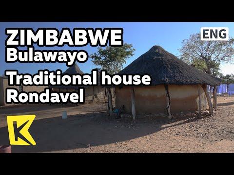 【K】Zimbabwe Travel-Bulawayo[짐바브웨 여행-불라와요]전통가옥 론다벨에 사는 주민/Rondavel/Traditional/House