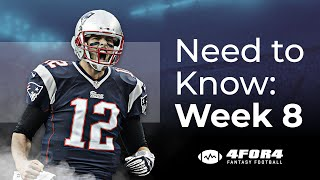Fantasy Football Week 8: Everything You Need to Know