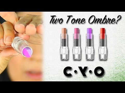 C•Y•O TWO TONE TWIST OMBRE LIPSTICK | Demo & Review