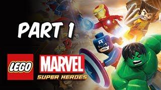 LEGO Marvel Super Heroes Gameplay Walkthrough - Part 1 Sand Central Station (Let