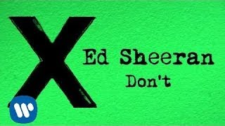 Download Ed Sheeran - Don't [Official] MP3 song and Music Video