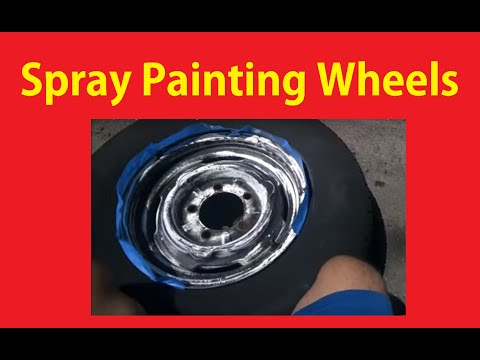 Spray Painting Wheels Paint How To DIY Video ~ BTS Vlog