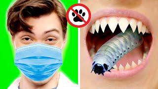 9 FUNNY ways to SNEAK PETS into the HOSPITAL! Awesome Pet Sneaking Ideas by GOTCHA!