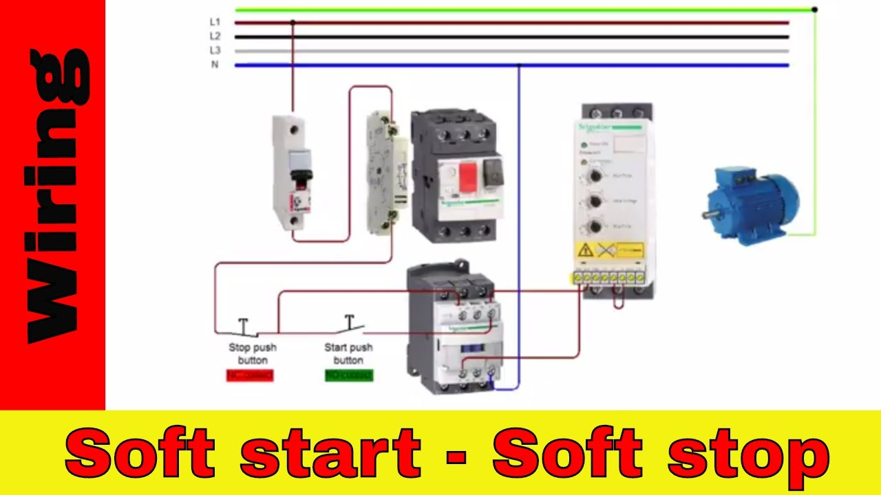how to wire soft starter and contactor v 1 [ 1280 x 720 Pixel ]