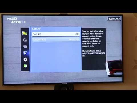Samsung LED Smart TV as WIFI router - settings for android, Iphone etc.