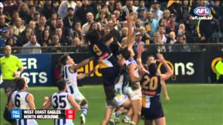 Top 10 finishes in the AFL - 2013