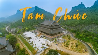 Flycam Bay Từ Đầu Đến Cuối Chùa Tam Chúc Bao Nhiêu Xa? - Drone Tam Chuc Pagoda