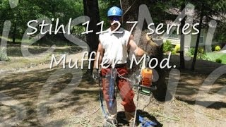 How to Modify Stihl 039 / MS390 Muffler & adjust Carburetor - Shredder II