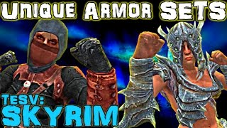 TESV: Skyrim - Unique Armor Sets Guide (Vanilla)