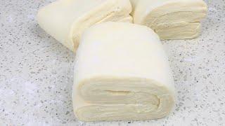 Puff Pastry Dough Recipe In Simple & Easy Way خمیر هزارلا خانگی به طریق خیلی ساده و آسان