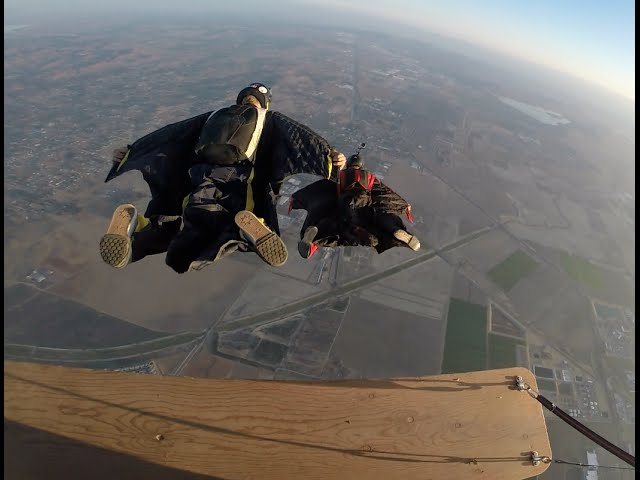 5,500ft Hot Air Balloon Wingsuit Flight