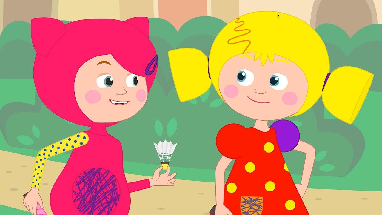БАДМИНТОН - Кукутики играют в новую игру Мультик для детей