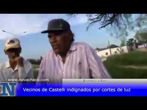 Vecinos de Castelli indignados por cortes de luz
