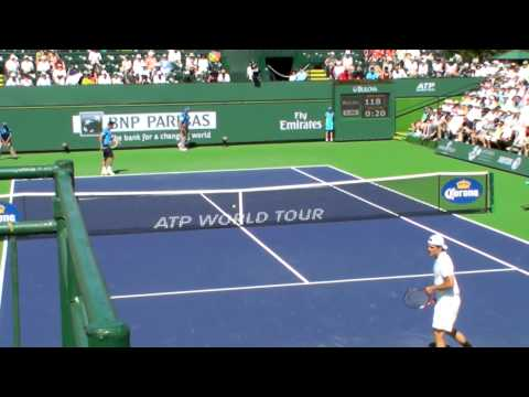 Tommy Haas vs Nicolas Almagro at the 2013 BNP Paribas Open - 3rd round