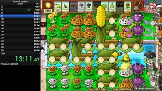 Plants vs. Zombies Speedrun Survival Endless (100 Flags) 2h20m50s