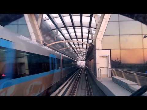 Dubai Metro Journey  2018  - An Awesome View ❤❤❤