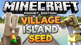 HUGE VILLAGE ISLAND SEED! - MCPE Water Village Seed - Minecraft PE (Pocket Edition)