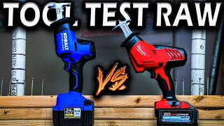 Milwaukee Tool VS Kobalt (BEST RECIPROCATING SAW TOOL COMPARISON) Compact One-Handed
