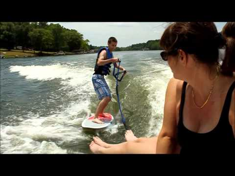 Wake Surfing Behind a Moomba