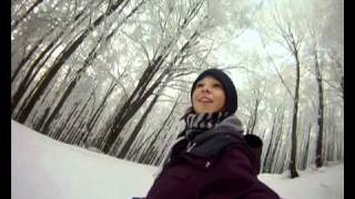Snowboarding in Czech with Family
