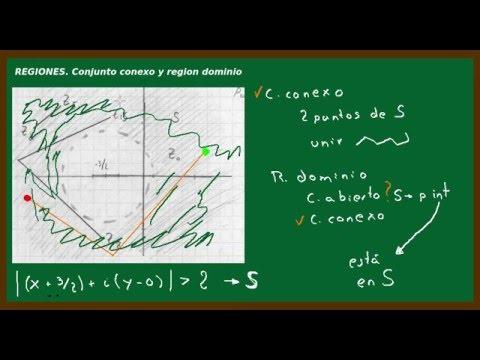 Regiones.  Conjunto conexo y region dominio