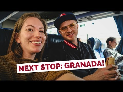 Valencia To Granada By Bus | Spain Travel Vlog
