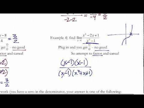 Solving for Limits Algebraically