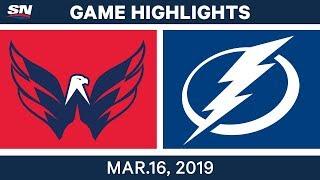 NHL Highlights   Capitals vs Lightning – Mar 16, 2019