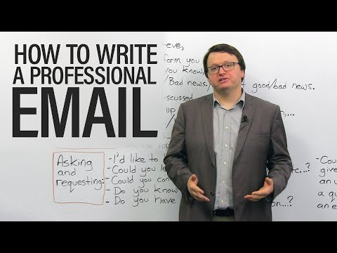 How to write professional emails in English