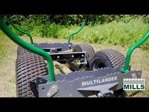 Woodland Mills Multilander Logging Trailer Overview