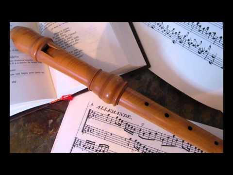 Louis de Caix d'Hervelois : Rondeau de la 2ème suite pour deux flûtes