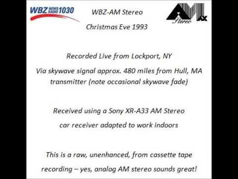 WBZ-AM Radio Christmas Eve 1993 C-Quam AM Stereo