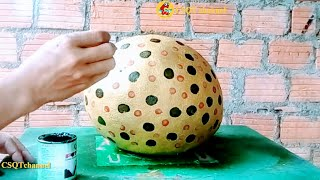 Make your own pots with cloth and cement // Design to change your home space