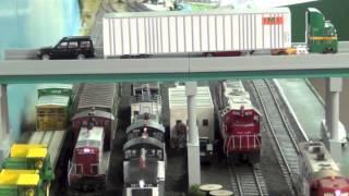 Video 1 Train Layout Shelf HO DRILINE