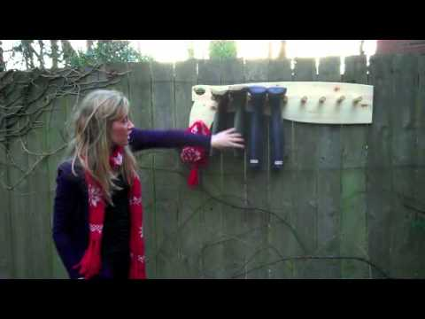 Wall mounted Wellington Boot rack  Ideal for Hunter