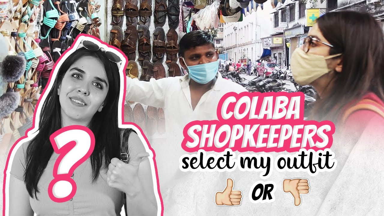 *GONE WRONG?* Colaba Shopkeepers Select My Outfit Challenge! | Heli Ved #FamheliExploresColaba EP 1