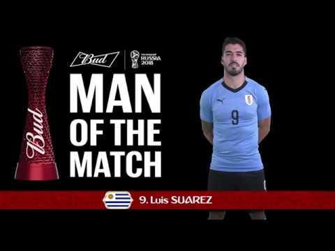 Luis SUAREZ (Uruguay) - Man of the Match - MATCH 33