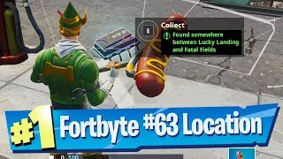 Fortnite Fortbyte #63 Location   Found Somewhere Between Lucky Landing And Fatal Fields