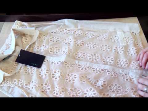 Женская шифоновая блузка с кружевом