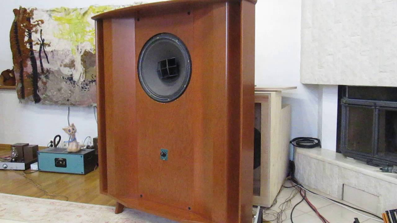 Altec Lansing 604 Hollywood + Utopia enclosure (cello test) - YouTube