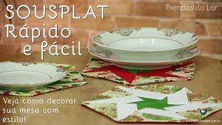 SOUSPLAT RÁPIDO E FÁCIL: Decore sua mesa de jantar com estilo!
