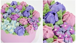 Tulip and Hydrangea Buttercream Cake - CAKE STYLE(SUBSCRIBE HERE ~ http://bit.ly/cakestyle BUTTERCREAM CAKES ~ http://bit.ly/buttercreamcakes Ready to learn more buttercream flowers? So many of you ..., 2015-11-03T11:00:00.000Z)