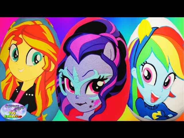 My Little Pony Giant Play Doh Surprise Eggs MLP Compilation Episode SETC
