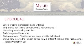 Ep. 43: Eating Disorders, Who is a Jew?, Dating Protocol, Rebbe's Advice