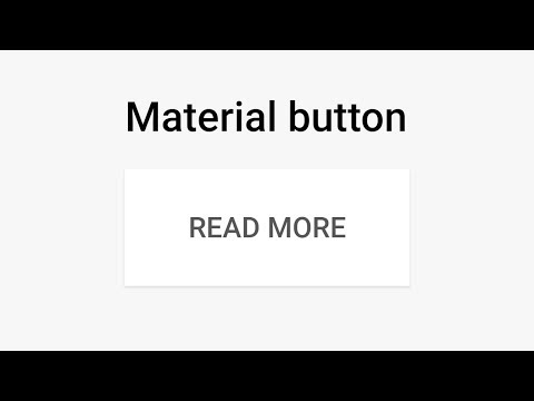 How To Create Google Material Design Button - CSS + JS